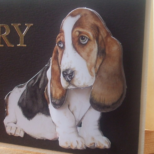 Handmade Sorry Card, Sad Basset Hound