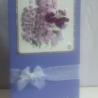 Purple Mother`s Day Card