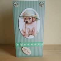 Handmade Puppy Card
