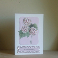 *ONE DAY SALE ITEM, 16th APRIL* Pink Floral Birthday Card