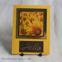 Handmade Card, Mini Sunflower