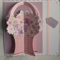 Handmade Mother's Day Card, Flower Basket