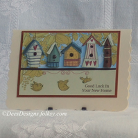 Handmade New Home Card, Bird Houses