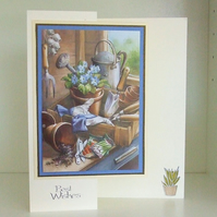 Best Wishes Card, Garden Shed