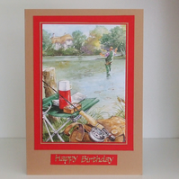 Birthday Card, Fishing in the River