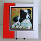 Handmade Card For Any Occasion, Collie and Pup, Can be Personalised