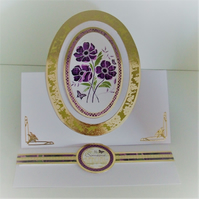 Handmade Card For Any Occasion, Purple Anemone, To Someone Special