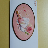 Handmade Card, suitable for 18th Birthday, Engagement or Wedding (360)