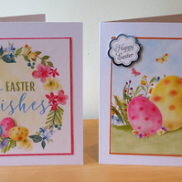 Pack of 2 Handmade Easter Cards