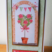 Handmade Blank Card, Just For You  (521)