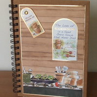 Decorated Hardback Notebook, The Love of Gardening