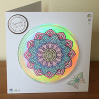 3D Mandala Card with Dome Front, Especially For You