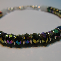 Rainbow Glass Crystal Bracelet