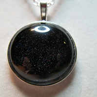 Nail Polish Pendant Necklace - Night Sky