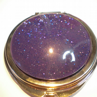 Nail Polish Pocket Mirror - Purple Glitter Mix