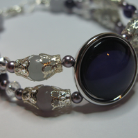 Gothic Purple Nail Polish Gemstone Bracelet