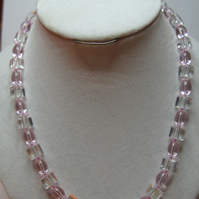 Baby Pink Glass Necklace