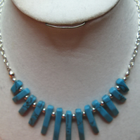 Turquoise Mini Fan Necklace