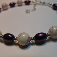Purple Ripple Bracelet