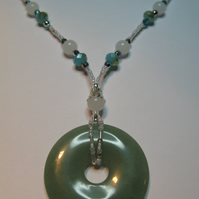 Mint Donut Necklace