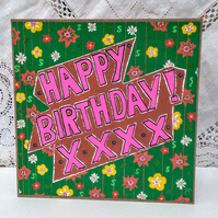 Original painted Birthday Card