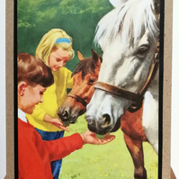 1960's recycled Vintage Horse  Card