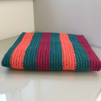 Striped Bamboo and Cotton Baby Blanket