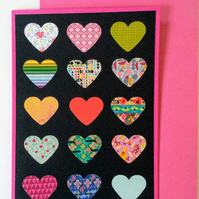 A6 Recycled Hearts Card