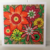 Flowers All Occasions Card Blank