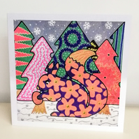 Squirrel Christmas Card Blank