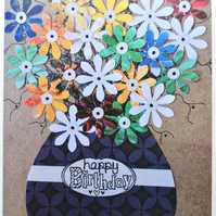 Birthday Flower Bouquet Card Blank