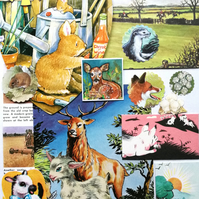 Countryside Themed Ephemera Scrapbooking Pack Junk Journal Collage 30 Pieces