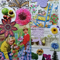Botanical Scrapbooking Ephemera Pack Junk Journal Collage Craft Decoupage