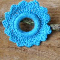 Crochet hoop, crochet wall decoration, crochet wreath