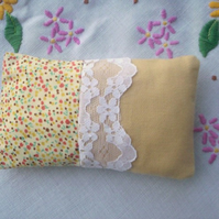 Yellow cotton pincushion