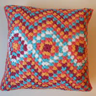 Crochet cushion cover, Moroccan style cushion cover, ripple crochet