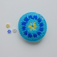 Pincushion, flower pincushion, crochet pincushion