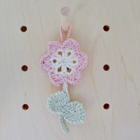 crochet door hanger, nursery wall hanging, door decoration