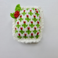 Pincushion, knitted pincushion, pin tidy, needlework gift