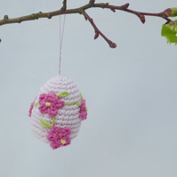 Crochet egg, organic crochet Easter decoration,