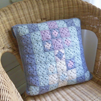 Crochet cushion cover, organic cotton cushion cover, removable cover