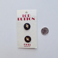 Round buttons, vintage buttons.