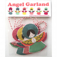 Fabric Angel Garland