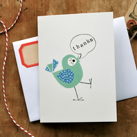 Pack of 3 - Thank You Birdie Card