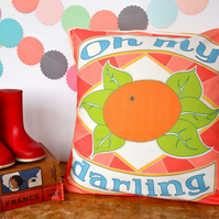 Oh My Darling Clementine cushion