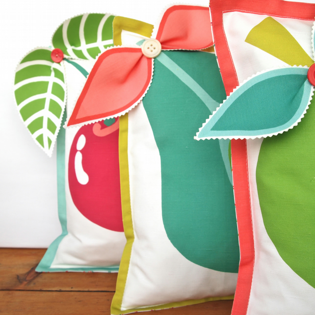 Full set of 3D Fruit Cushions - 3 cover pack. - Folksy