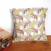 Foxy Fox Cushion - handmade retro funky nursery vintage quirky fun