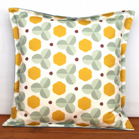 Mustard clover cushion