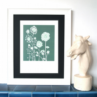 Teal Meadow A3 print