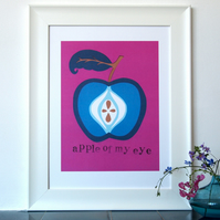 Apple of my Eye Papercut - A3 print  wedding, baby, congratulations, anniversary